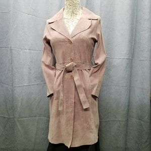 Arden B Pink Suede Long Jacket